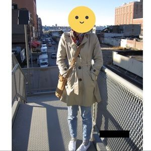 Tan Trench Coat Rain Jacket